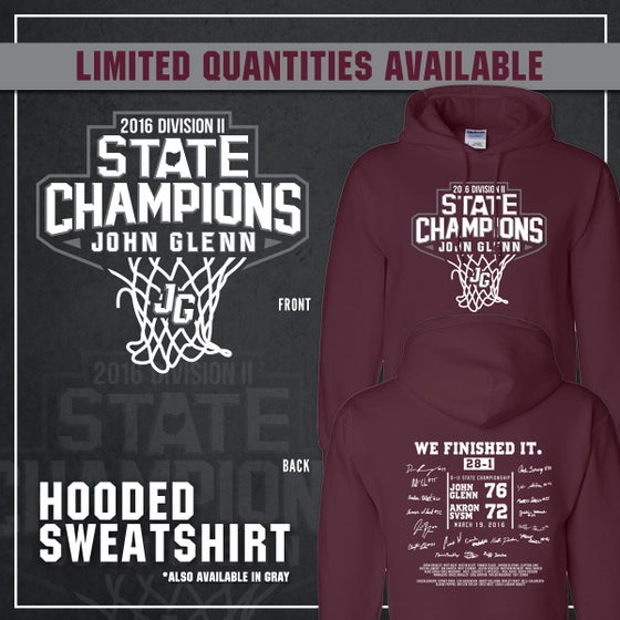 Image of John Glenn Muskies // 2016 State Champions (Hooded Sweatshirt)