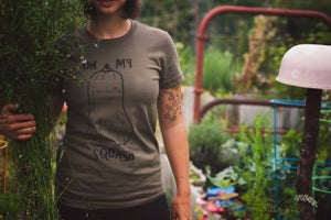 Image of OH MY SQUASH - Ladies Tee in Olive Green
