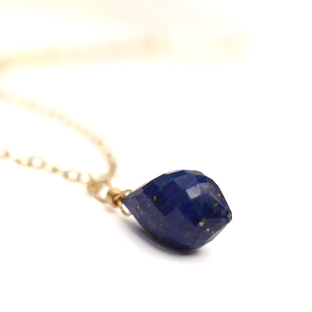 Image of Lapis lazuli solitaire necklace