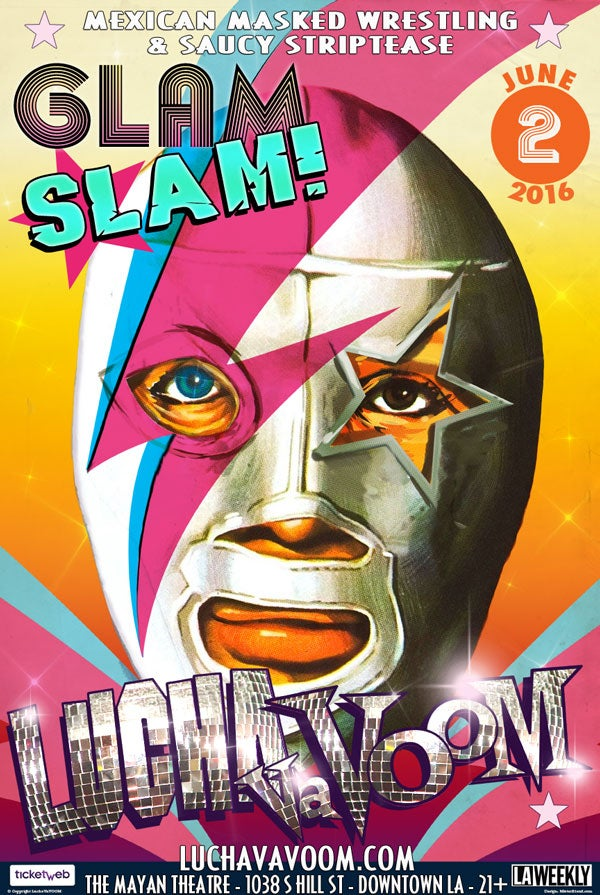 Summer 2016 glam slam poster the lucha vavoom store for Best store to buy posters