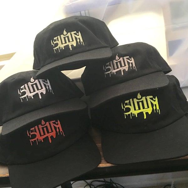 Image of SLIMER dad hat black 1 size fits most adjustable cap