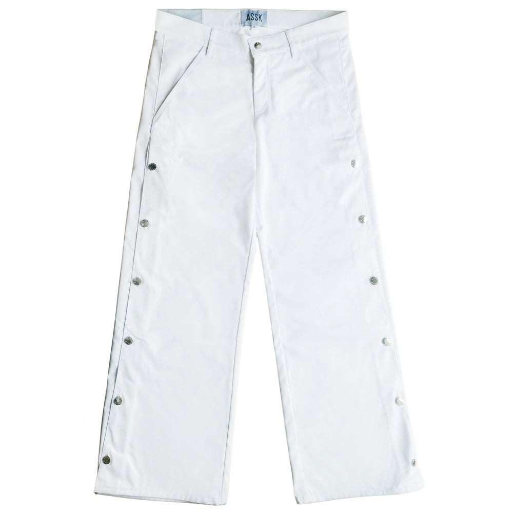Image of BOLT Wide Leg Jeans - White