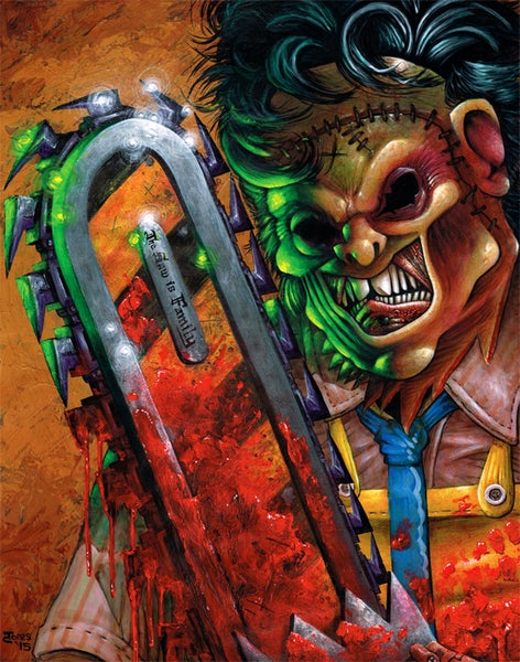 Image of 'Texas Chainsaw Massacre' 19x24inch Large Poster