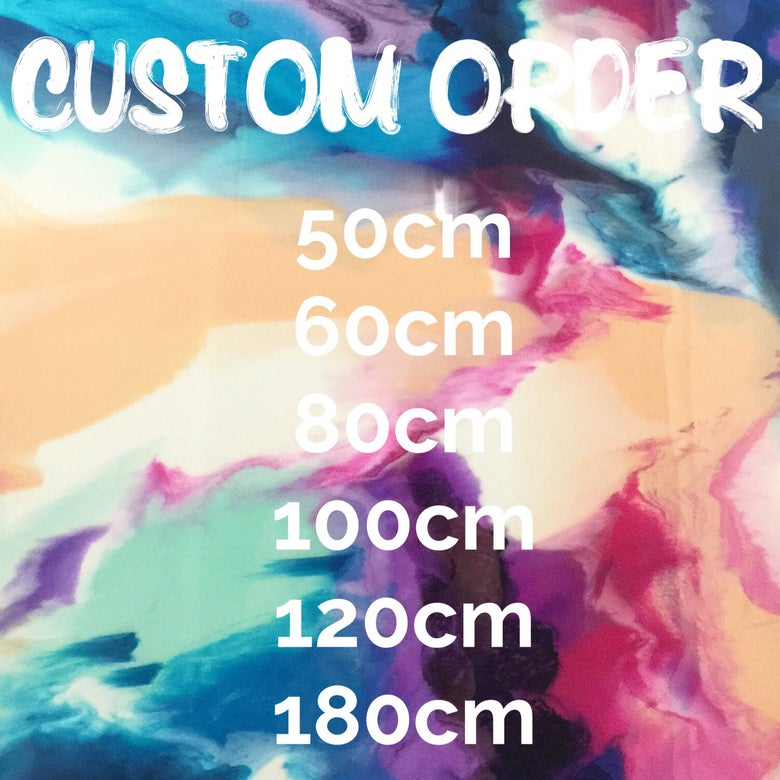 Image of Custom Order Round Resin Artwork
