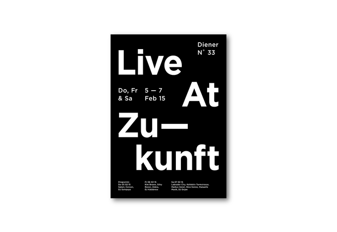 Image of Poster «Live At Zukunft»