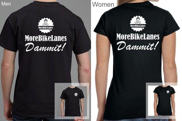 Image of MoreBikeLanes.com Shirt + Free Shipping - Dammit!