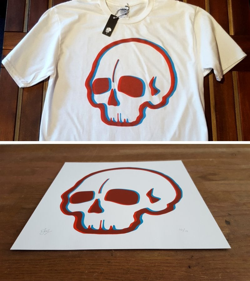 Image of 3D Tee & Art Print Bundle