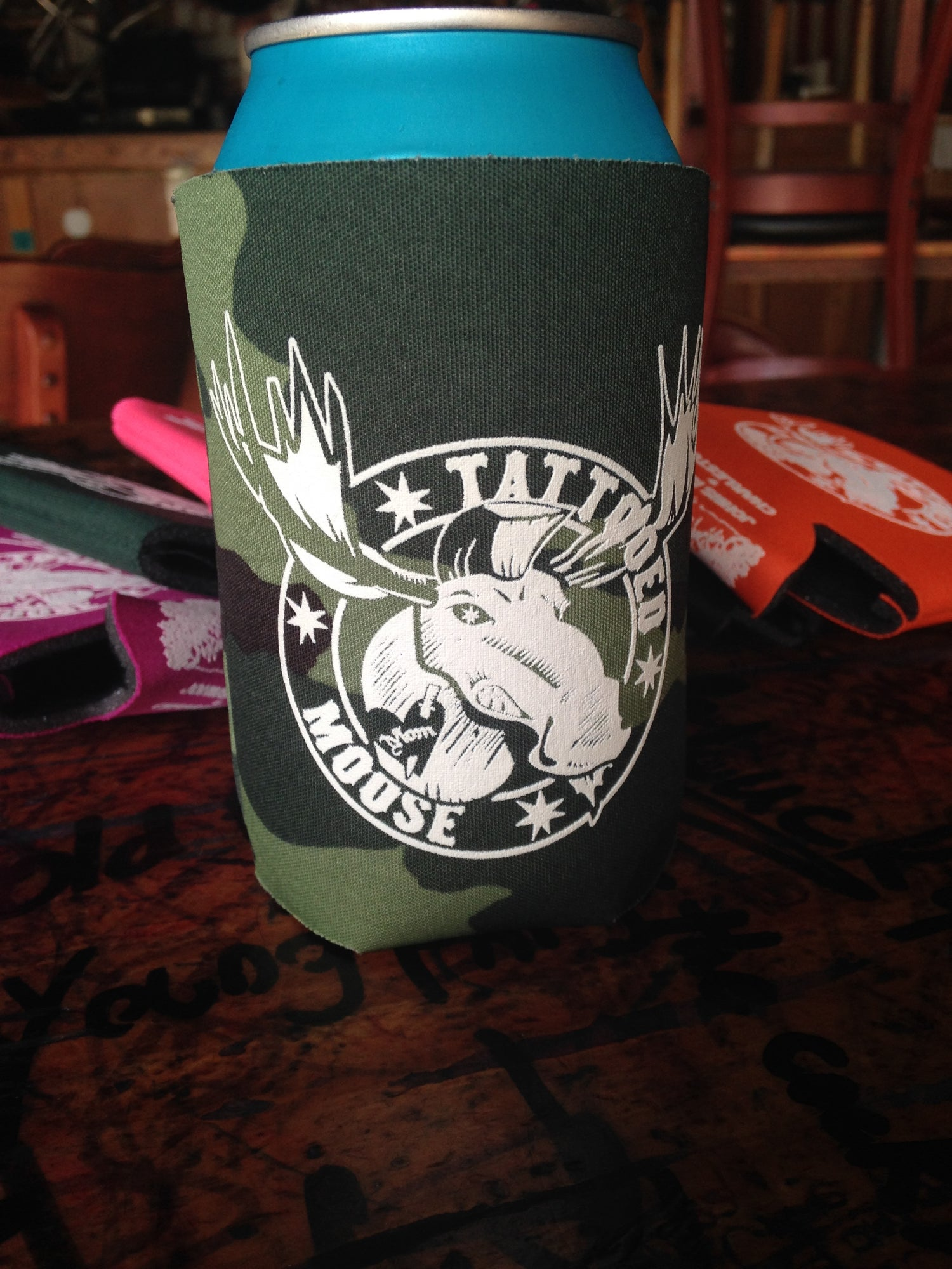 Image of Tattooed Moose 12 oz. KOOZIE (Assorted Colors!)