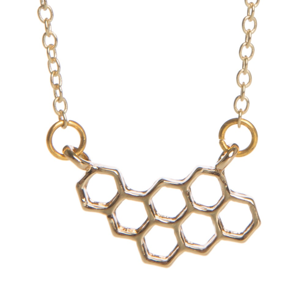 Image of Honeycomb Charm Necklace
