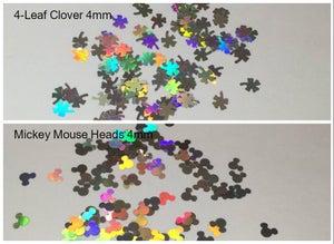 Image of Silver Holo Fun-Shaped Glitters