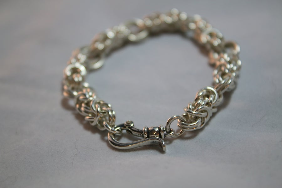 Image of Sterling silver chain bracelet
