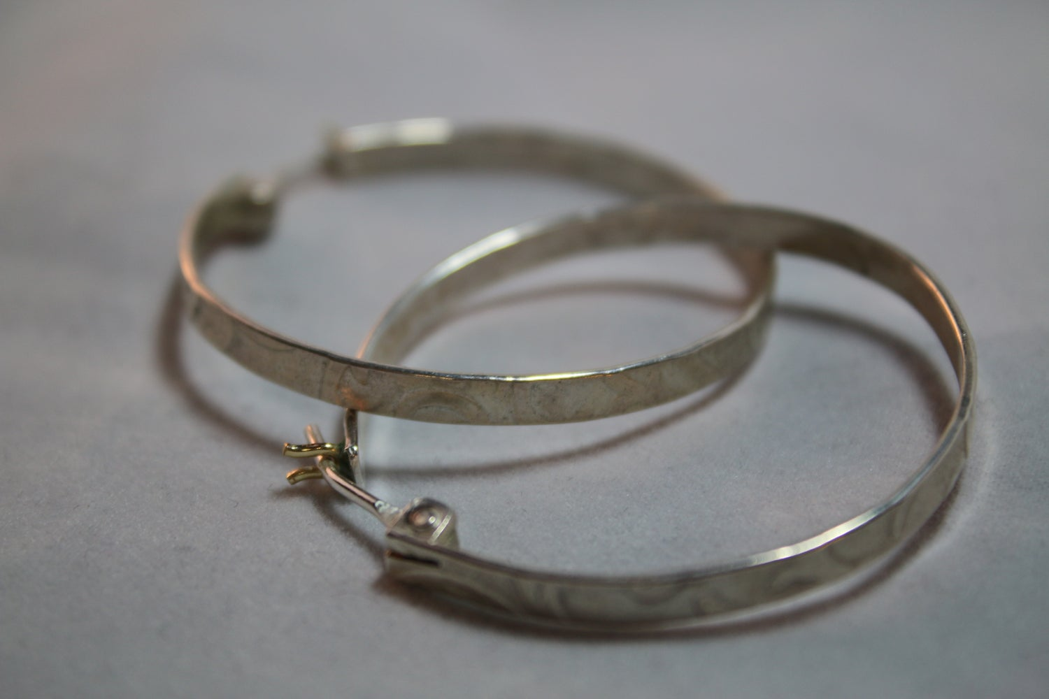 Image of Embossed Hoop Earrings