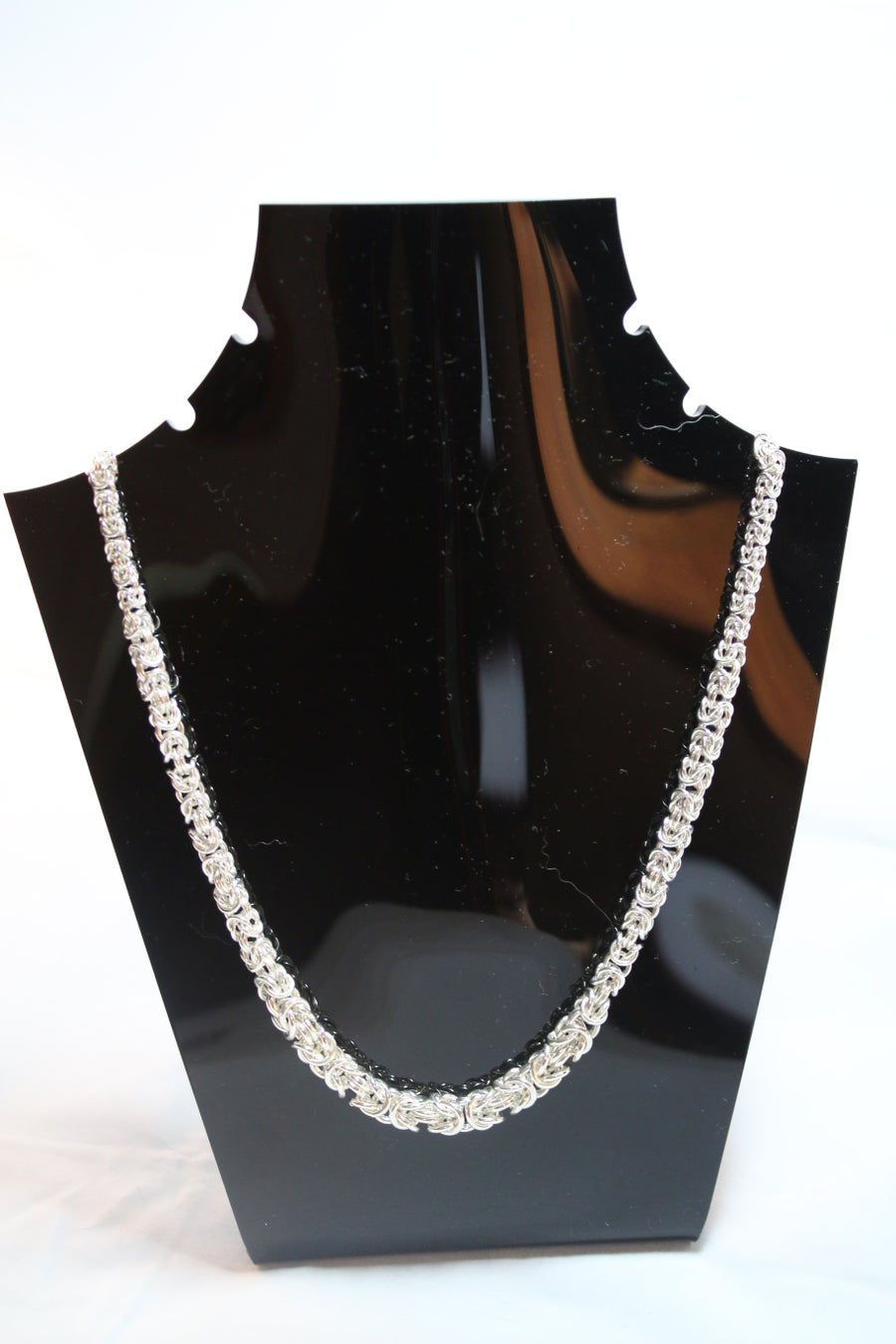 Image of Graduated sterling silver chain