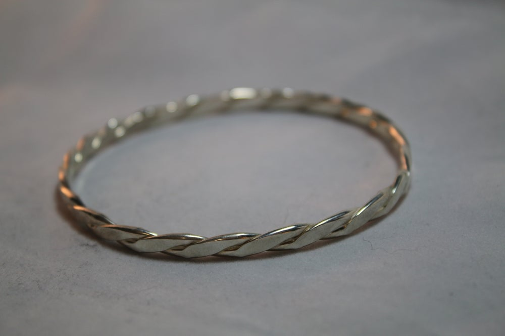 Image of Sterling Silver Twist Bangle