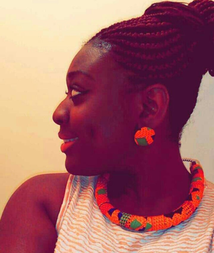 Image of Vekras Ohemaa Choker Kente Statement Necklace