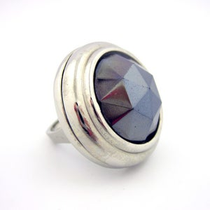 Image of German Rose Vintage Glass Cocktail Ring
