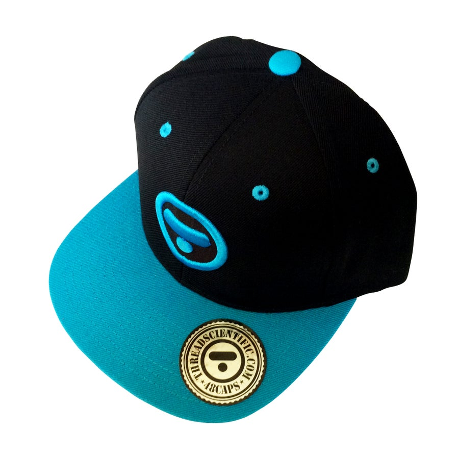 Image of T-Symbol 3D Embroidery Hat (Black/Teal)