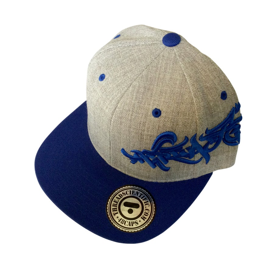 Image of T-Tag 3D Embroidery Hat (Heather Gray/Royal)