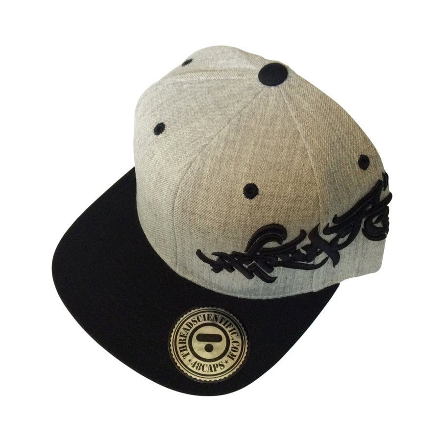 Image of T-Tag 3D Embroidery Hat (Heather Gray/Black)