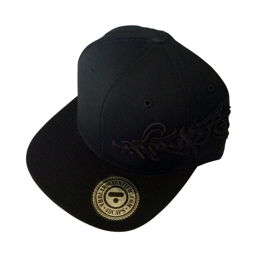 Image of T-Tag 3D Embroidery Hat (Black/Tone on Tone)