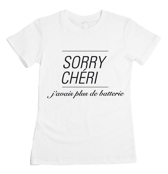 Image of sorry cherie