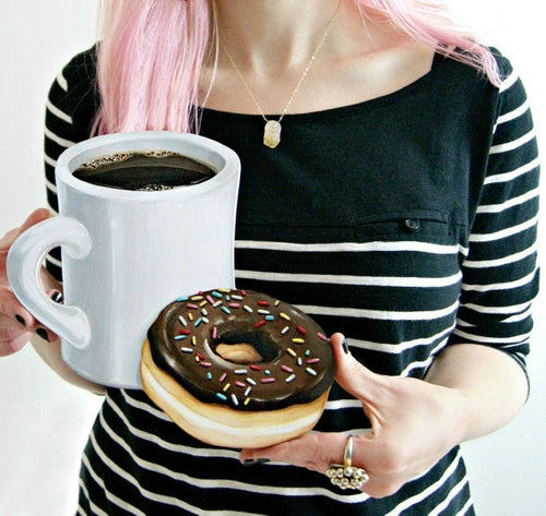 Image of Coffee & Donut wood plaque