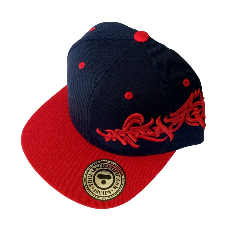 Image of T-Tag 3D Embroidery Hat (Navy/Red)
