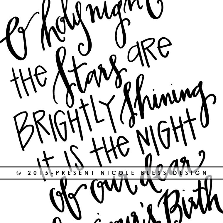 Image of O' Holy Night - Digital Print