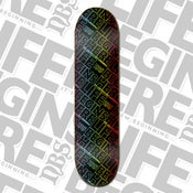"Image of ""LIFE BEGINS HERE™"" COLOUR TEAM PRO MODEL SKATEBOARD - REISSUE"