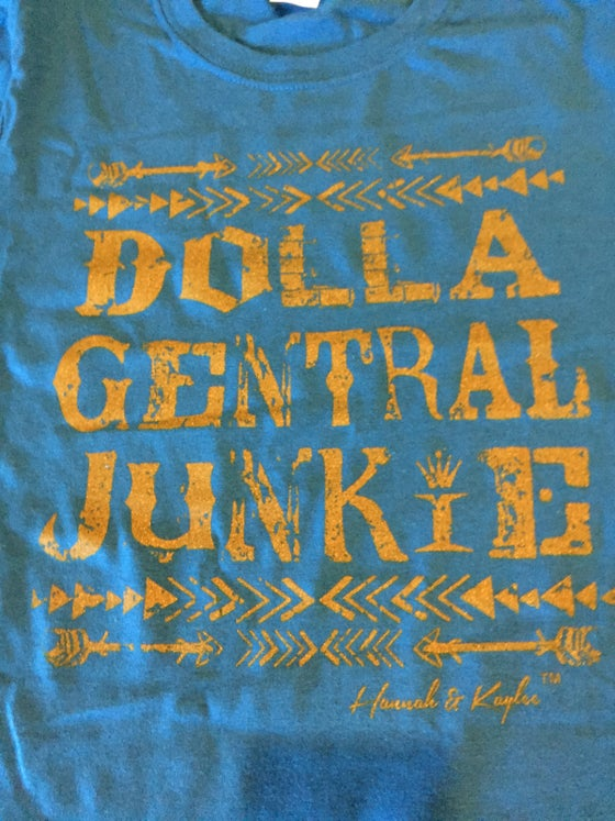 Image of SALE!! SAPPHIRE SHORT SLEEVE 'DOLLA GENTRAL JUNKIE' TEE