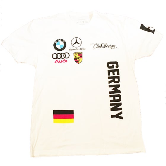 Image of Club Foreign Germany White Short Sleeve T-Shirt