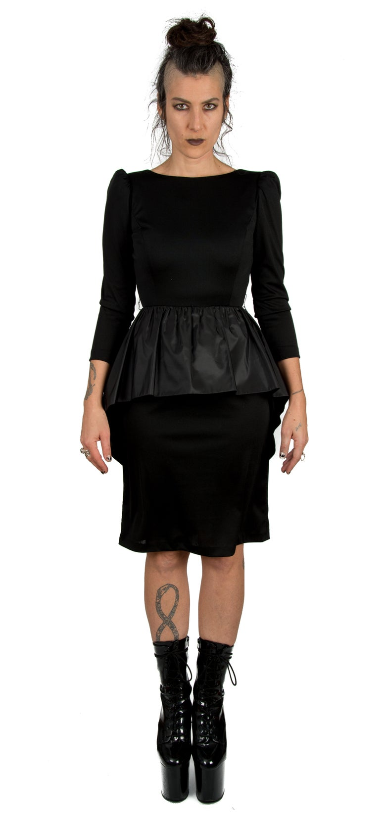 Image of Victor Costa Peplum Dress
