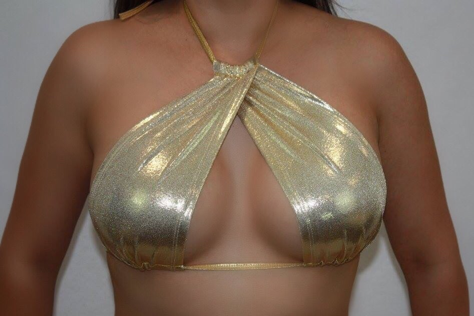 Image of Gold Plur top