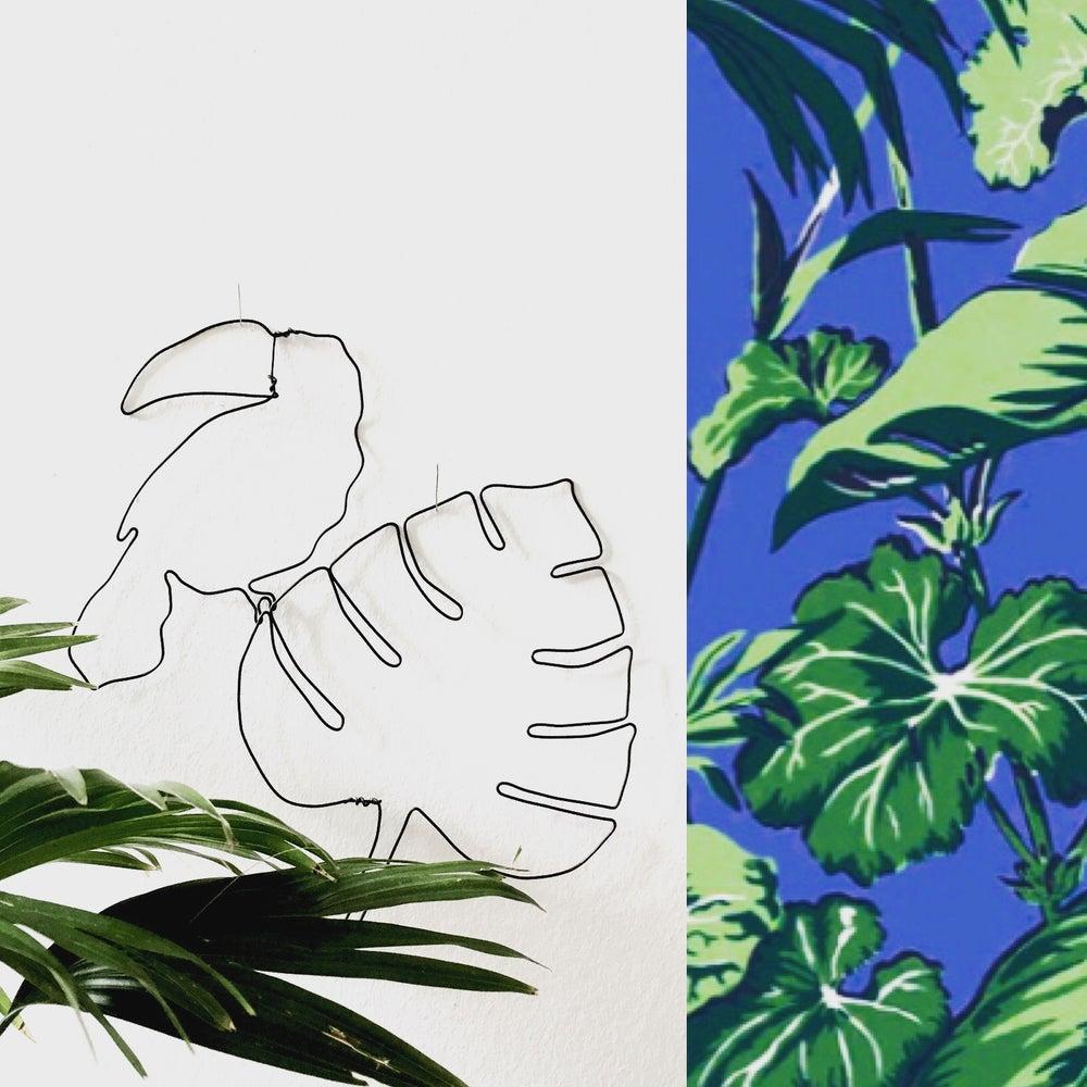 Image of Toucan et sa feuille exotique (modèle 1)