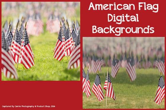 Image of American Flag Digital Backgrounds