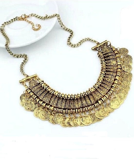 Image of Gold Boho Coin Necklace
