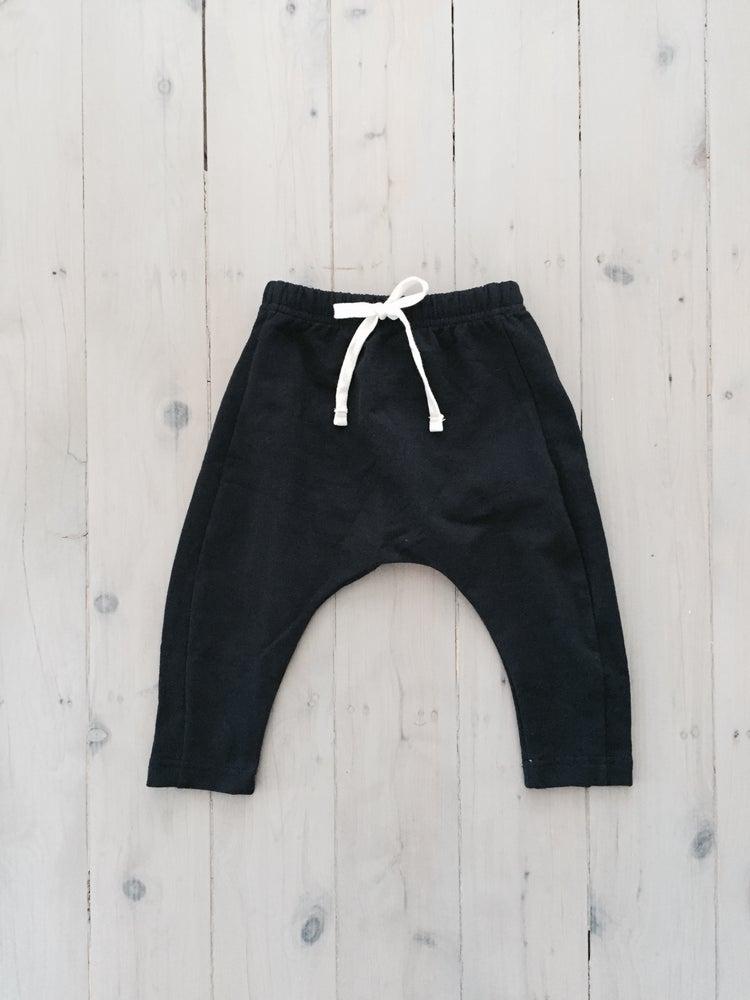Image of BLACK WINTER DROP CROTCH PANTS