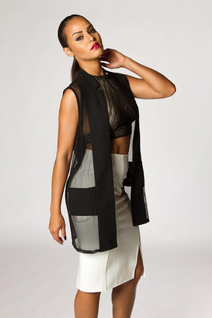 Image of Open-Front Long Vest