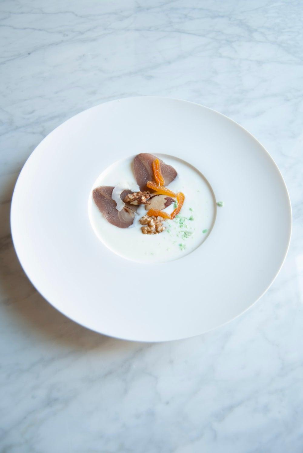 Image of Plato gourmet hondo . Conjunto de 6