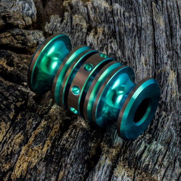 Image of Bright Green & Bronze Triple Bead Set #5