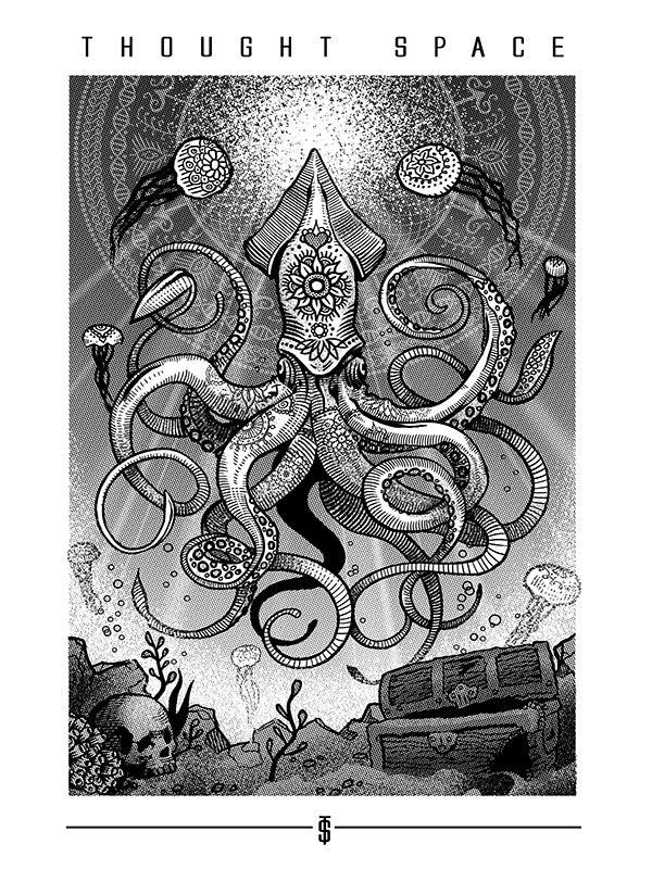 Image of Infinite Sea White Print