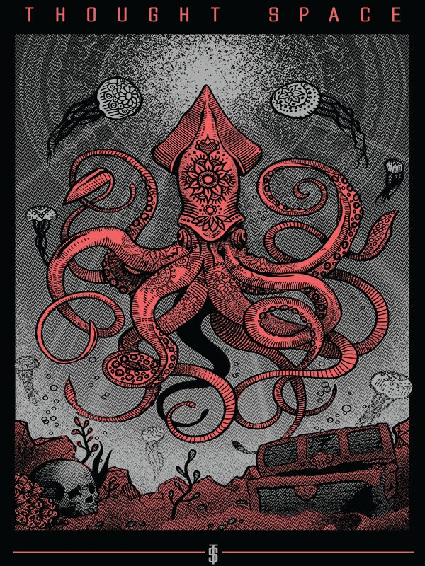 Image of Infinite Sea Red Print