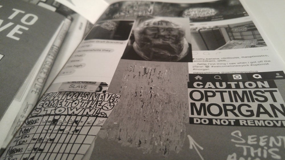 "Image of ""Do Not Remove"" Original Zine by Optimist & Morgan"
