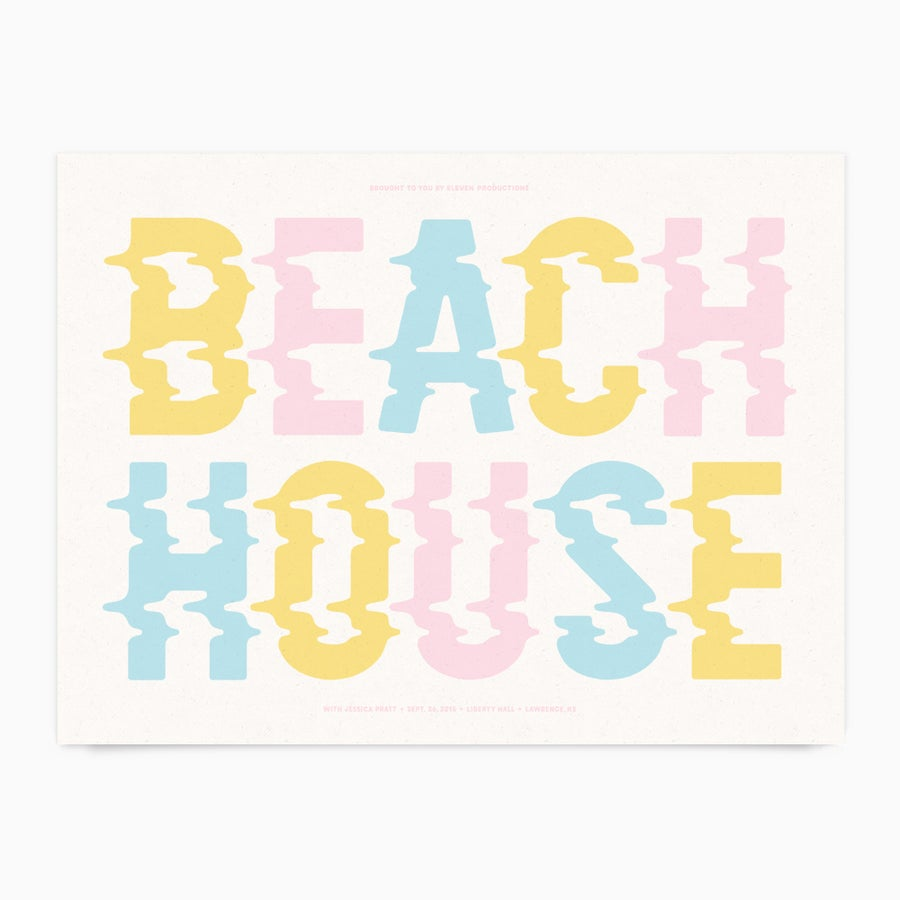 Image of Beach House Gigposter