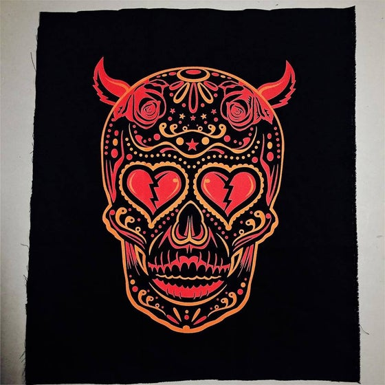 Image of Los Diablos jacket patch.