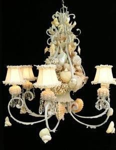 Image of Beautiful Boca Seashell Chandelier