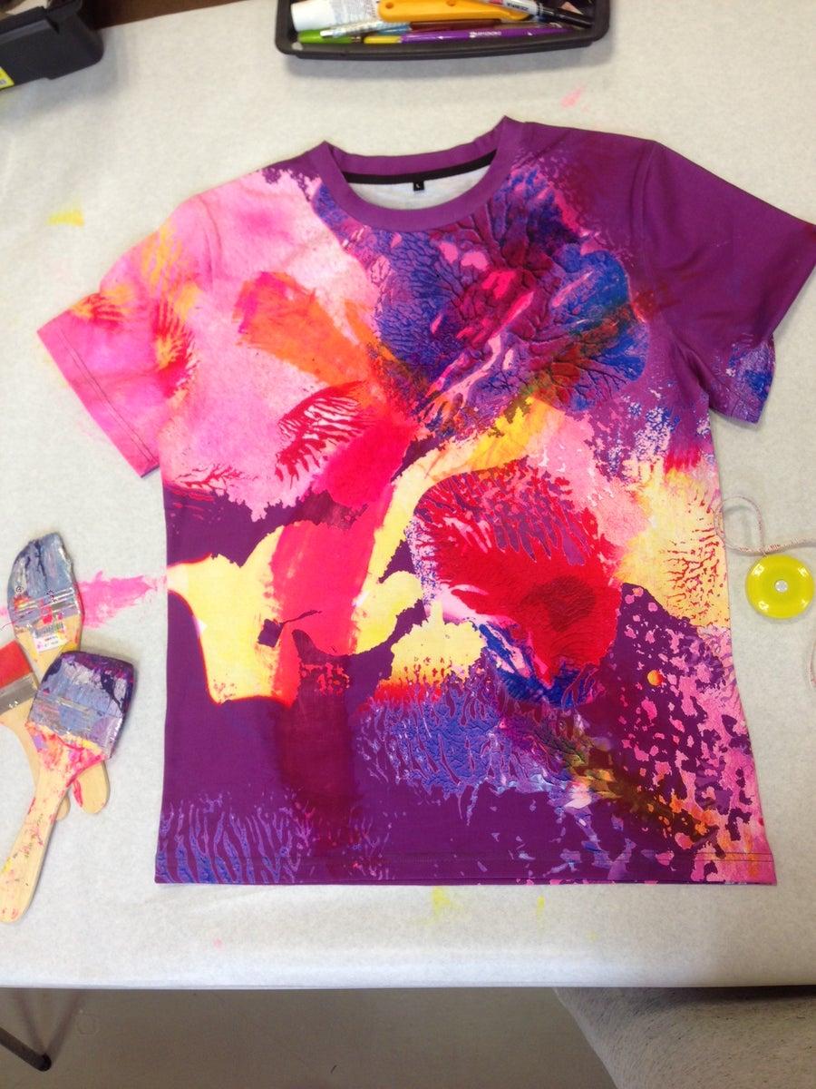 Image of Acid Bloom Printed Sleeved T-shirt