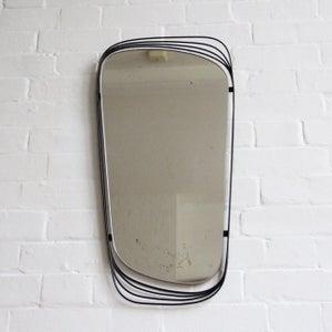 Image of Black midcentury mirror