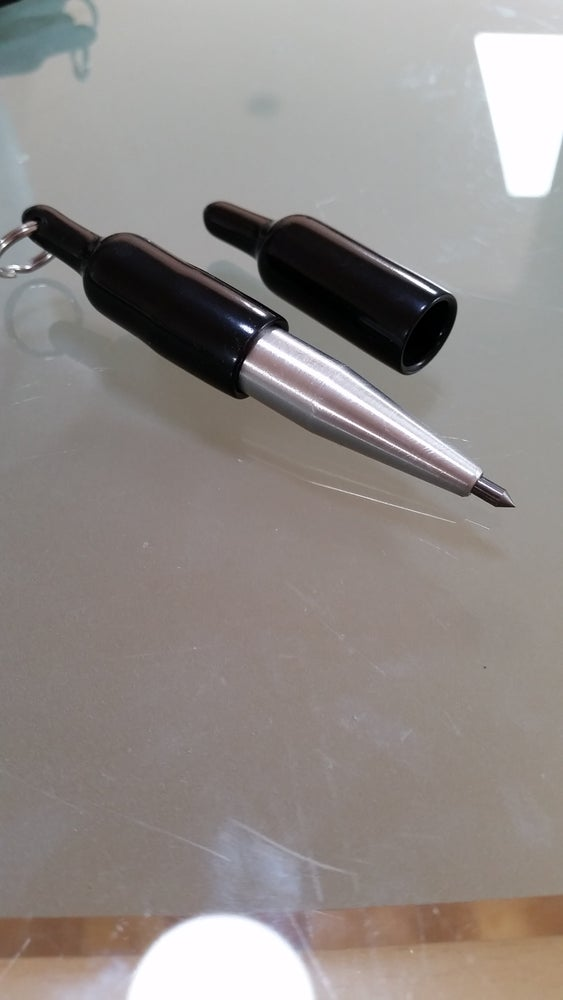 """Image of """"SUPER HEAVY DUTY REGULAR TIP"""" CARBIDE POINT MAGNETIC END KEYCHAIN SCRIBE"""