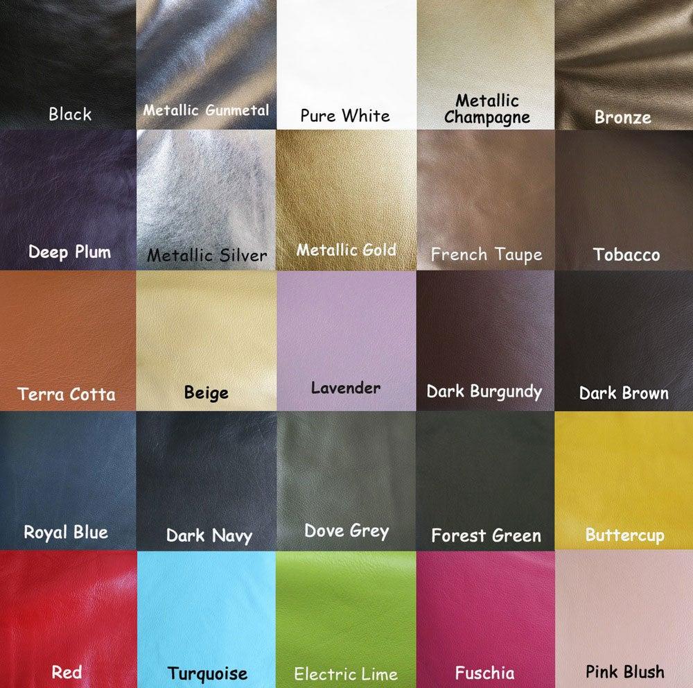 "Image of 55"" (inch) Adjustable Leather Strap - .5"" Wide - GOLD or NICKEL #16 Hooks - Choose Color & Finish"